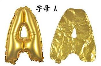 ballon - 100 cm - goud - letter - A