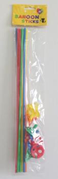 Ballon stokjes 10 stuks gemengde kleuren