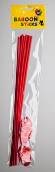 Ballon stokjes 10 stuks rood