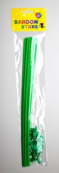 Ballon stokjes 10 stuks groen