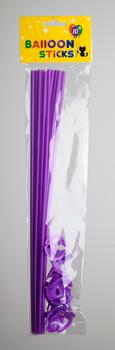 Ballon stokjes 10 stuks paars
