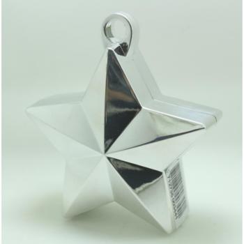Ballon gewicht in de vorm van een ster metallic silver