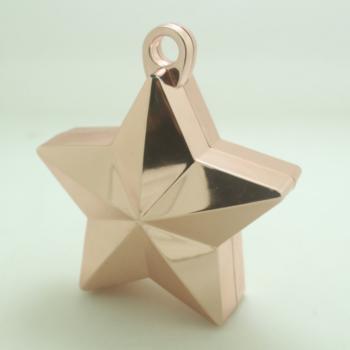 Ballon gewicht in de vorm van een ster metallic rose gold