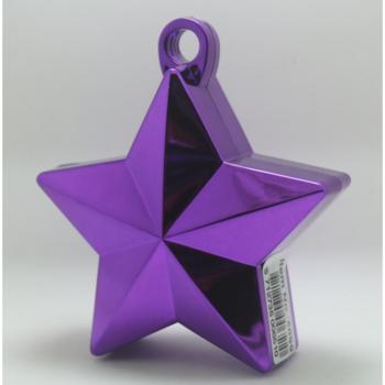Ballon gewicht in de vorm van een ster metallic purple