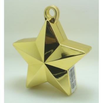 Ballon gewicht in de vorm van een ster metallic gold