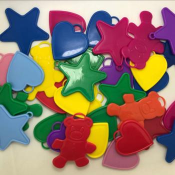Ballon gewicht in verschillende vormen en kleuren per 10 stuks