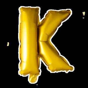 ballon - 41 cm - goud - letter - K