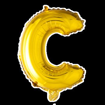ballon - 41 cm - goud - letter - C
