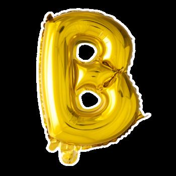 ballon - 41 cm - goud - letter - B