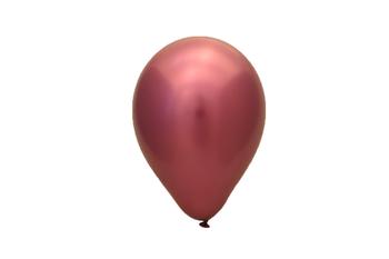 25 stuks licht roze chrome latex ballon 30 cm