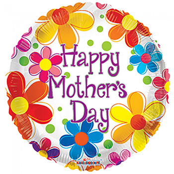 Folie ballon Happy Mother's Day ! 46 cm doorsnee
