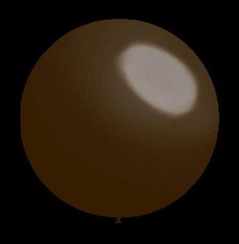Decoratieballonnen donker bruin 28 cm professionele kwaliteit