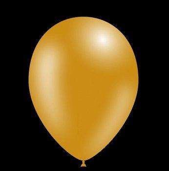 Feestballonnen metallic goud 26 cm professionele kwaliteit