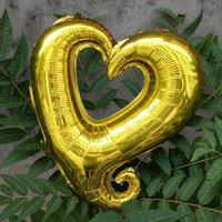 45 cm gouden open hartvormige folie ballon van hoge kwaliteit