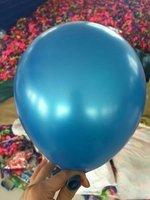 Donker blauwe parelmoer metallic ballon 30 cm hoge kwaliteit