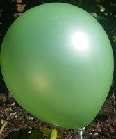 Donker groene parelmoer metallic ballon 30 cm hoge kwaliteit