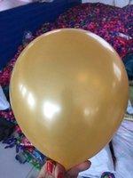 Gouden parelmoer metallic ballon 30 cm hoge kwaliteit