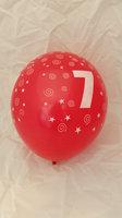 10 stuks latex ballonnen cijfer 7 gemengde kleuren 30 cm hoge kwaliteit
