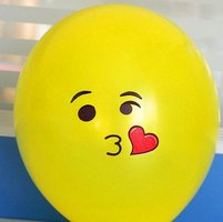 ballon smiley  30 cm geel kusje
