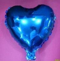 75 cm blauwe hartvormige folie ballon van hoge kwaliteit