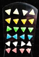 12 paar fluoriserende oorbellen driehoek OP=OP-AANBIEDING
