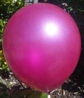 Donker roze parelmoer metallic ballon 30 cm hoge kwaliteit MET LOS LEDLAMPJE VOOR IN BALLON