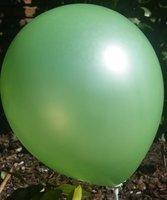 Donker groene parelmoer metallic ballon 30 cm hoge kwaliteit MET LOS LEDLAMPJE VOOR IN BALLON