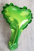 10 stuks zelfsluitende folie hartballonnetjes 10 cm lichtgroen