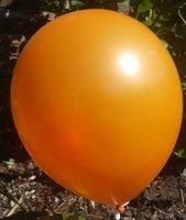10 stuks Oranje parelmoer metallic ballon 30 cm hoge kwaliteit
