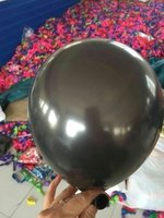 25 stuks Zwarte parelmoer metallic ballon 30 cm hoge kwaliteit