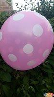 10 stuks Roze ballon met witte stippen 30 cm hoge kwaliteit