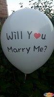 10 stuks Witte ballon will you marry me you 30 cm hoge kwaliteit