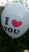 25 stuks Witte ballon i love you 30 cm hoge kwaliteit