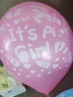 10 stuks Its a girl roze latex ballon 30 cm hoge kwaliteit voor geboorte