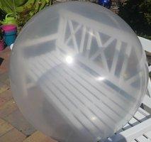 3 stuks Mega grote transparante ballonnen 90 cm