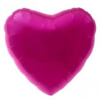 45 cm lichter fuchsia hartvormige folie ballon van hoge kwaliteit