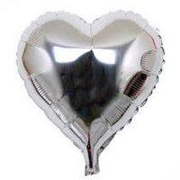 10 stuks zelfsluitende folie hartballonnetjes 10 cm zilver