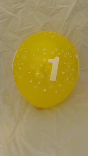 10 stuks latex ballonnen cijfer 1 gemengde kleuren 30 cm hoge kwaliteit