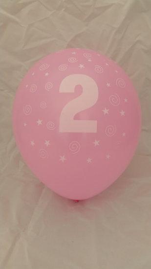10 stuks latex ballonnen cijfer 2 gemengde kleuren 30 cm hoge kwaliteit