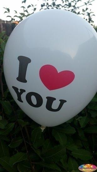 Witte ballon i love you 30 cm hoge kwaliteit