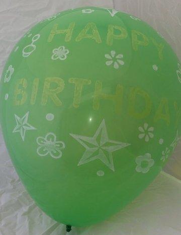 Grote groene ballonnen 65 cm happy birthday