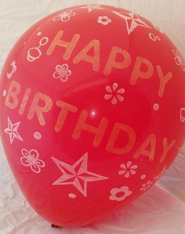 Grote rode ballonnen 65 cm happy birthday