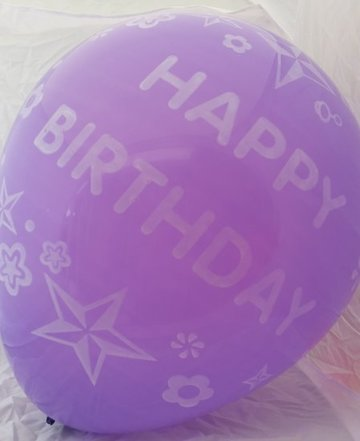 Grote paarse ballonnen 65 cm happy birthday