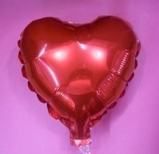 45 cm rode hartvormige folie ballon van hoge kwaliteit