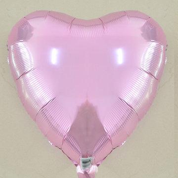 45 cm licht roze hartvormige folie ballon van hoge kwaliteit