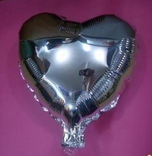 75 cm zilveren hartvormige folie ballon van hoge kwaliteit