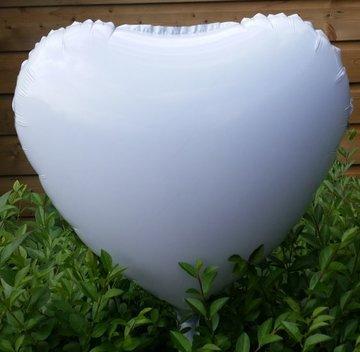 45 cm licht grijs hartballon folie ballon van hoge kwaliteit