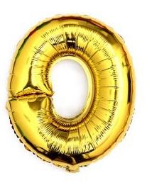 ballon - 40 cm - goud - cijferballon - cijfer 0