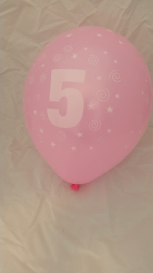 10 stuks latex ballonnen cijfer 5 gemengde kleuren 30 cm hoge kwaliteit