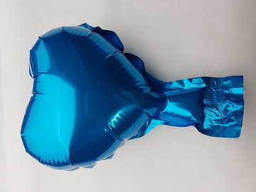 ballonnen -10 stuks- zelfsluitende -  folie - kleine hartballonnetjes- 10 cm - licht blauw